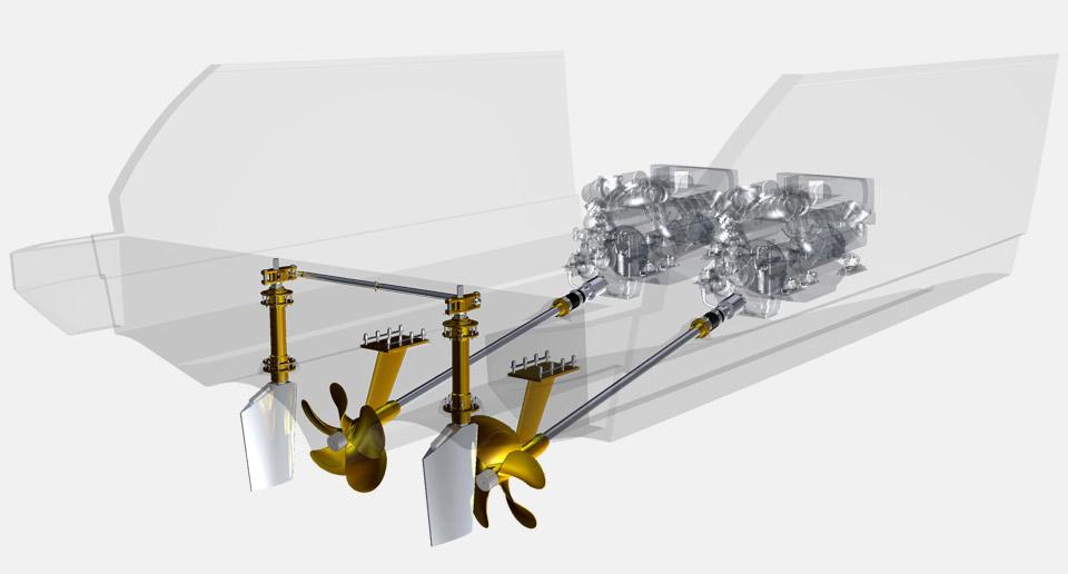 Herstellung von schiffsschraube