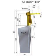 Ruder aus stahl TA40200-11 S12