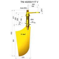 Ruder aus nibral TNI40200-11T V
